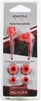 Наушники Smart Buy COLOR ACTION, вакуумные, 1.2 м, красный (SBE-830)