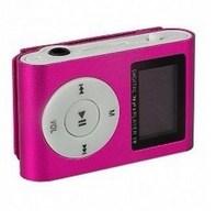 MP3-плеер с дисплеем, клипса, microSD, розовый