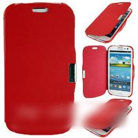 Чехол-книжка на Samsung S3 полиуретан, красный