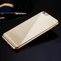 Чехол-накладка на Apple iPhone 6/6S, силикон, бампер, золотистый
