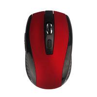 Мышь беспроводная, Noname, оптическая, 5кн, глянцевая, черно-красный