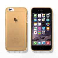 Чехол-накладка на Apple iPhone 7/8 Plus, силикон, прозрачный, золотистый
