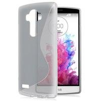 Чехол-накладка LG G4 силикон, S-line, серый