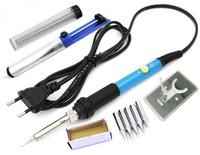 Паяльник электрический, SumSour, 60Вт, регулятор, + набор для пайки