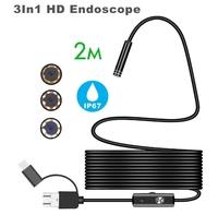 Камера эндоскоп microUSB/USB, Орбита OT-SME14, 8мм, 2м, 1280*720, IP67, с подсветкой