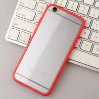 Бампер на Apple iPhone 6/6S Plus, силикон, красный