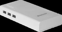 Портативный аккумулятор PowerBank 10000mAh, Defender Lavita, 3xUSB, белый