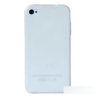 Чехол-накладка на Apple iPhone 4/4S, силикон, матовый, прозрачный