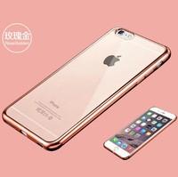 Чехол-накладка на Apple iPhone 7/8, силикон, под бампер, прозрачный, розовый