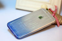 Чехол-накладка на Apple iPhone 6/6S Plus, силикон, градиент, прозрачно-голубой