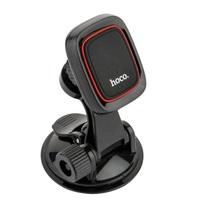 Автомобильный держатель, Hoco CA28 Happy, присоска, магнитный, черный