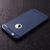 Чехол-накладка на Apple iPhone 7/8 Plus, силикон, матовый, с вырез., синий