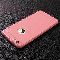 Чехол-накладка на Apple iPhone 7/8 Plus, силикон, матовый, с вырез., розовый