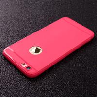 Чехол-накладка на Apple iPhone 7/8 Plus, силикон, матовый, с вырез., красный