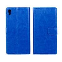 Чехол-книжка на Sony Xperia Z4, Z3, кожа, синий