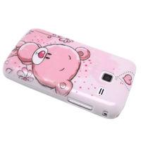 Чехол-накладка на Samsung Galaxy Y Duos (S6102) пластик, pink bear