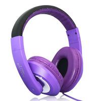 Наушники Suoyana S-828MV, полноразмерные, с микрофоном, 2м, фиолетовый