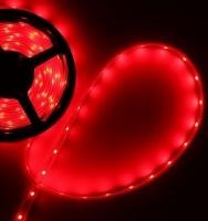 Светодиодная лента 3528, б/вл IP20, 12в, 4,8Вт.м, 60д.м. 5м, красная