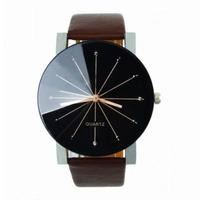 Часы наручные Noname, ц.черный, р.коричневый, кожа