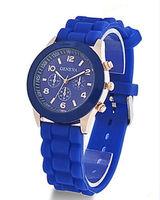 Часы наручные Geneva, ц.синий, р.синий, силикон