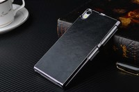 Чехол-накладка на Sony Xperia Z1 пластик, кожа, черный
