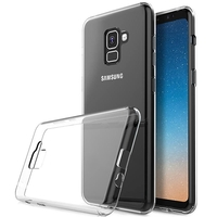 Чехол-накладка на Samsung A8 Plus (A730) (2018) силикон, ультратонкий, прозрачный