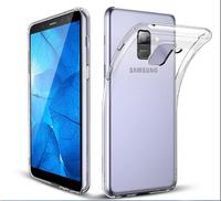 Чехол-накладка на Samsung A6 Plus (A605) (2018) силикон, ультратонкий, прозрачный