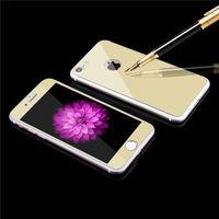 Цветное защитное стекло для Apple iPhone 7/8/SE2 комплект, золотистый