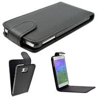Флип-кейс на Samsung Alpha (G850F) кожа, магнитный с язычком, черный