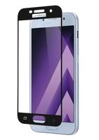 Защитное стекло для Samsung Galaxy A3 (A320) (2017) на дисплей, с рамкой, 4D, черный