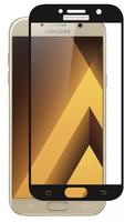 Защитное стекло для Samsung Galaxy A5 (A520) (2017) на дисплей, с рамкой, 4D, черный