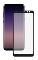 Защитное стекло Samsung Galaxy A8 (2018) на дисплей, с рамкой, 4D, черный