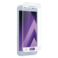 Защитное стекло для Samsung Galaxy A3 (A320) (2017) на дисплей, с рамкой, 4D, белый