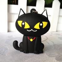 Память USB 2.0 Flash, Кот, черный, 8 Gb
