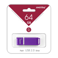 Память USB 2.0 Flash, 64GB, Smart Buy Quartz series Violet