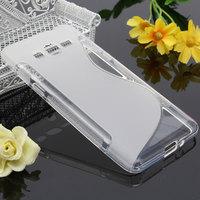 Чехол-накладка на Samsung Grand Prime (G530) силикон, S-line, прозрачный
