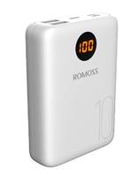 Портативный аккумулятор PowerBank 10000mAh, Romoss OM10, 2xUSB(mUSB, Lighthing, TypeC), LCD