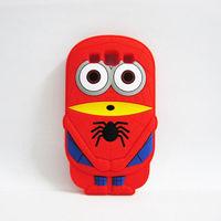 Чехол-накладка на Samsung S3 силикон, Миньон-паук, красный
