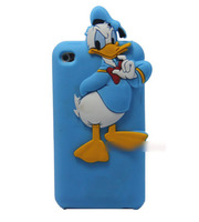 Чехол-накладка Apple iPod Touch 4 Donald Duck, синий