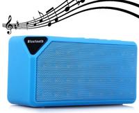 Портативная колонка, X3, Bluetooth, USB, FM, AUX, microSD, BL-5C, синий