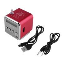 Портативная колонка, TD-V26, FM Radio, microSD, USB, дисплей, красный