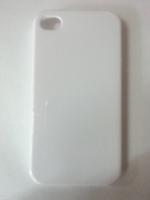 Чехол-накладка на Apple iPhone 4/4S, пластик, глянцевый, белый