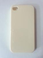 Чехол-накладка на Apple iPhone 4/4S, пластик, глянцевый, бледно-желтый