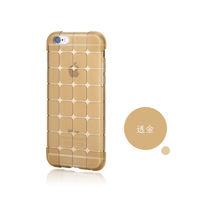 Чехол-накладка на Apple iPhone 4/4S, силикон, quad, золотистый
