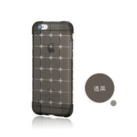 Чехол-накладка на Apple iPhone 4/4S, силикон, quad, черный