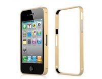 Бампер на Apple iPhone 4/4S, алюминий, золотистый