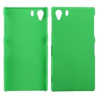 Чехол-накладка на Sony Xperia Z1 пластик, 0,5мм, зеленый