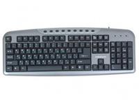 Клавиатура проводная Nakatomi Multimedia KN-11U, игровая, мультимедиа, серый