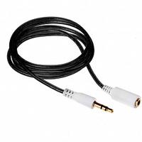 Кабель аудио удлинительный  jack 3.5мм, Activ AU103, 1м, черный