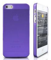 Чехол-накладка на Apple iPhone 5/5S, пластик, тонкий, матовый, фиолетовый